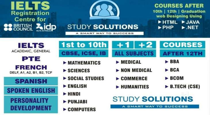 Study Solutions Others Ielts Pte Cbse Iii X Cbse Xi Xii Spoken English Coaching Institute In Ludhiana